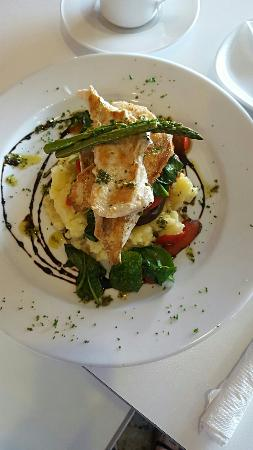 Semaphore, Australia: Chicken and vegetable stack.