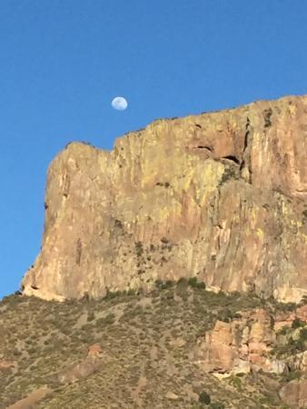 Alpine, TX: Moonrise over Casa Grande