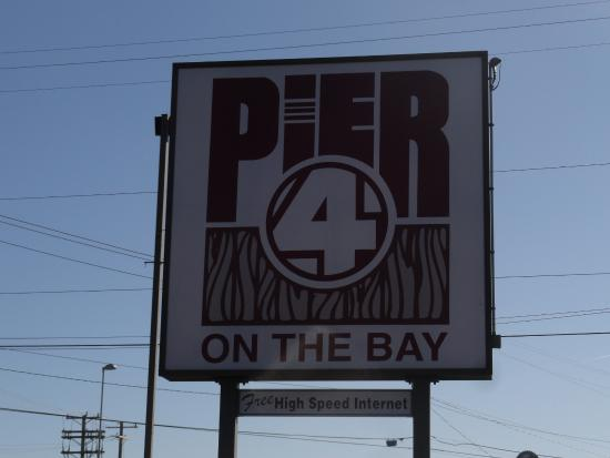 Pier 4 Hotel: Hotel Sign in front of the hotel