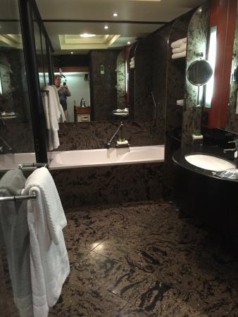 InterContinental Johannesburg Sandton Towers: Thats a big bathroom