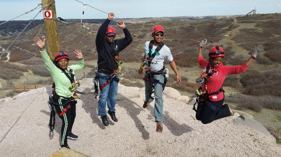 Castle Rock, CO: Ziplining with Friends - Exhilarating!!