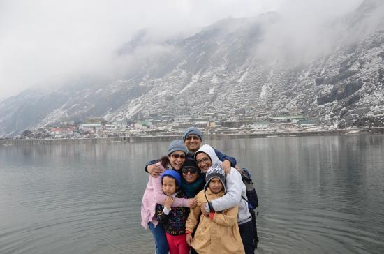 Family Pic at Tsomgo Lake