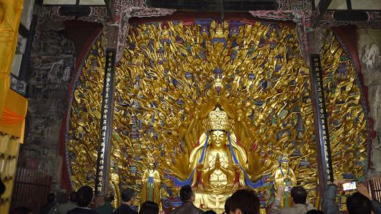 Dazu County, China: 千手観音は千以上の手があるという