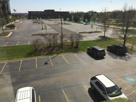 Vernon Hills, IL: car park from hotel room