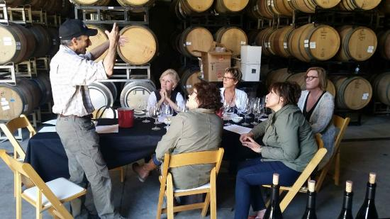 Breakaway Tours & Event Planning: Our private behinds the scenes with Chris of Wrath Winery,
