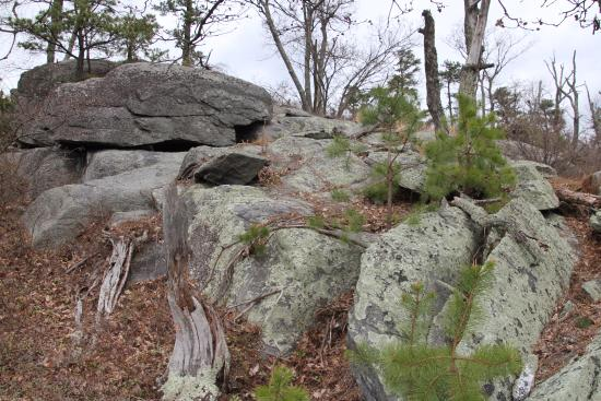Fayetteville, Pensilvania: Tons of boulders
