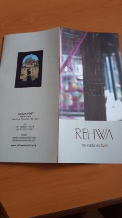 Maheshwar, อินเดีย: Rehwa info booklet