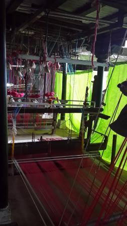 Rehwa Society: Saree weaving in progress