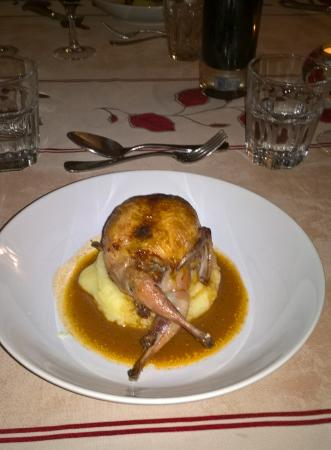 The Gascony French Cookery School: Stuffed Quail - here's one we made earlier!