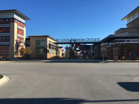 Visit St. Louis Premium Outlets located just 30 minutes from downtown and only 20 minutes from Lambert - St. Louis International Airport. Shop more than 90 designer and name brand outlet stores including adidas, Coach, DKNY, kate spade new york, LOFT Outlet, Michael Kors, Nike Factory Store, Saks Fifth Avenue OFF 5th, Sunglass Hut, Under Armour Location: Outlet Blvd, Chesterfield, , MO.