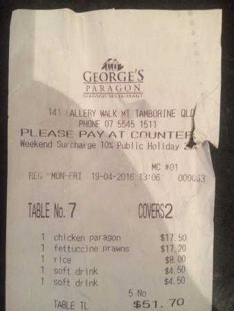 George's Paragon Seafood Restaurant Mt. Tamborine: photo0.jpg