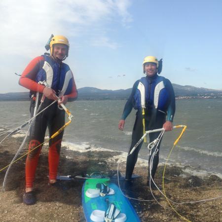 La Palme, فرنسا: élèves en stage kitesurf