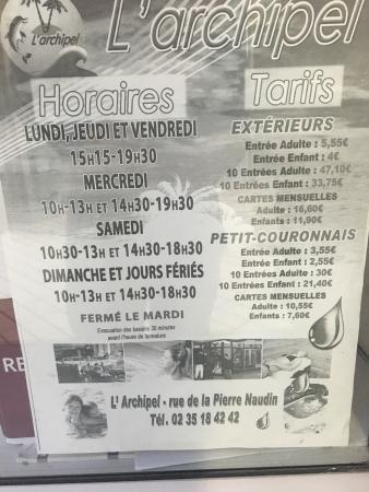Petit-Couronne, Frankreich: Les horaires sur le site ne sont pas bonne.. Voici les bonnes , sa vous évitera comme moi d'atte