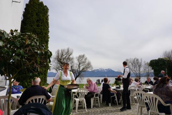 Upper Bavaria, Niemcy: вид на озеро