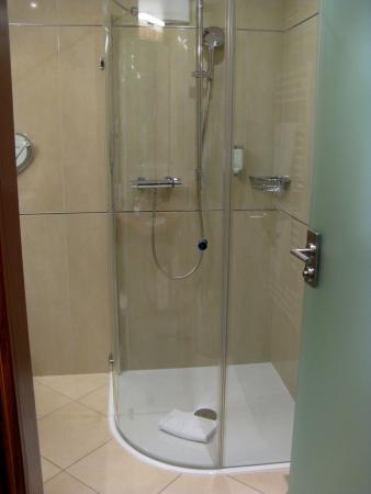 Hotel Edelweiss: große begehbare Dusche