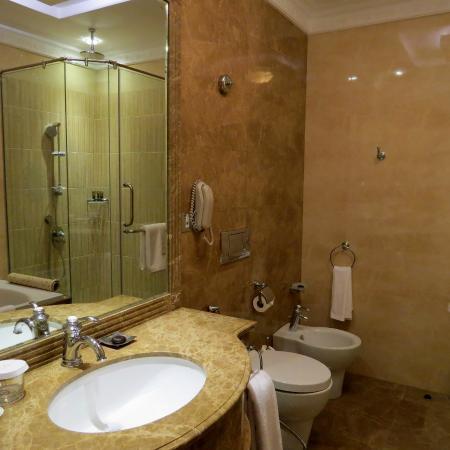 Badezimmer mit Dusche und Badewanne - Bild von Royal Rose Hotel, Abu ...