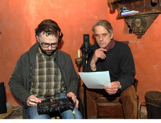Skibbereen Heritage Centre: Jeremy Irons recording the voice of Lord Dufferin as part of Skibbereen: The Famine Story