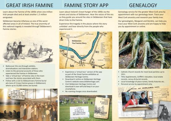 Skibbereen Heritage Centre: The inside of our flyer