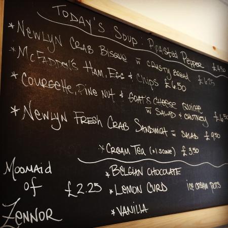 Newlyn, UK: Blackboard of favorites