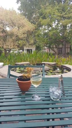 Paarl, Sudáfrica: Guesthouse courtyard dining view!