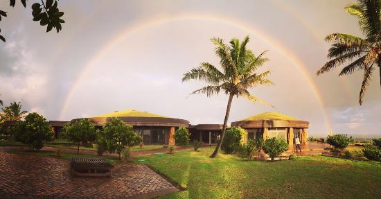 ‪‪Hotel Hangaroa Eco Village & Spa‬: Doble Rainbow‬