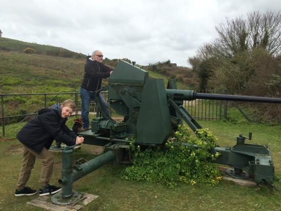 Falmouth, UK: More up to date gun rady for firing out to sea!
