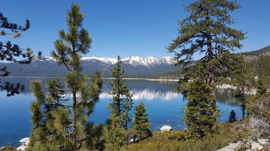 Taken from the parking lot of the Lake Tahoe Nevada State Park rest area.