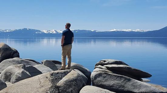 Lake Tahoe Nevada State Park: If you can, you'll want to climb the boulders for a better look!