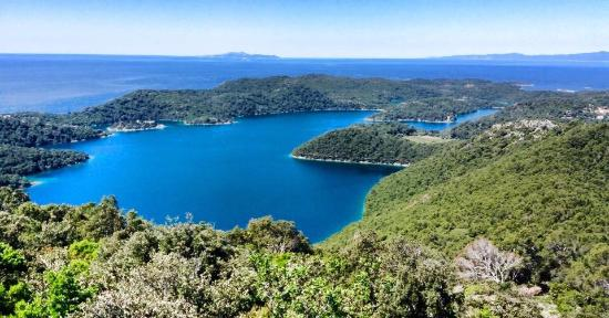 Sobra, Croatia: View from room and Mljet lakes