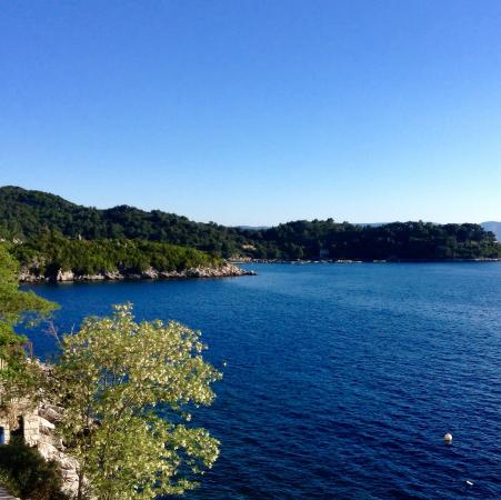 Sobra, Kroatien: View from room and Mljet lakes