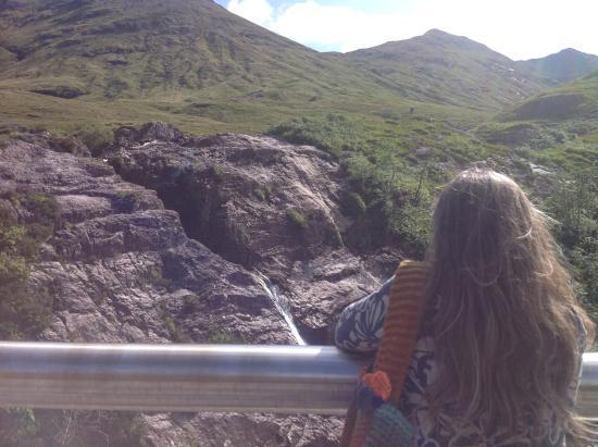 North Ballachulish, UK: Looking at falls in Glencoe