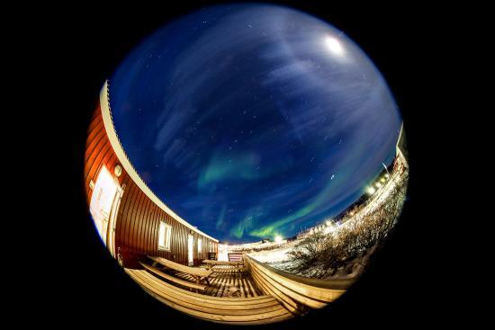 Kangerlussuaq, Groenlandia: Northern light on lodge ground