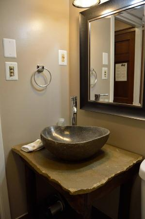 Brookside Resort: Local Artisan Made Bathroom Sinks