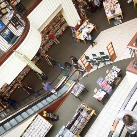 The Massive Barnes And Noble Bookstore At The Grove Los Angeles