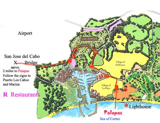 Palapas Resort: Map of Palapas