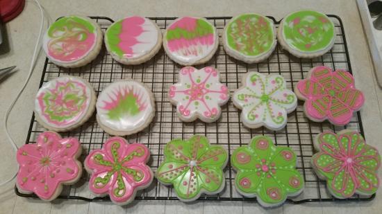 Plymouth, NH: Iced sugar cookies