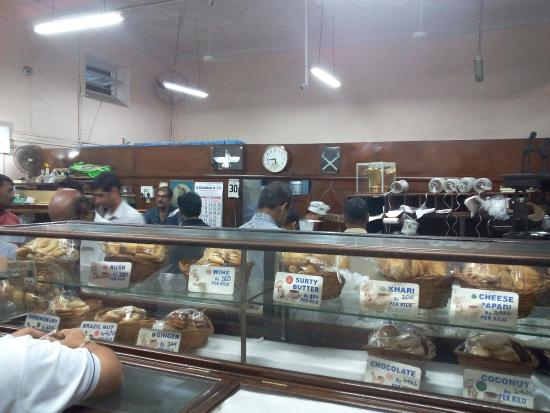 Kayani Bakery: View of showcase inside Bakery
