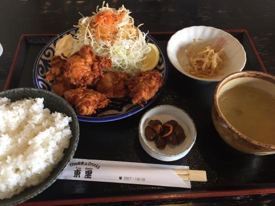 Tosato: 唐揚げ定食、770円