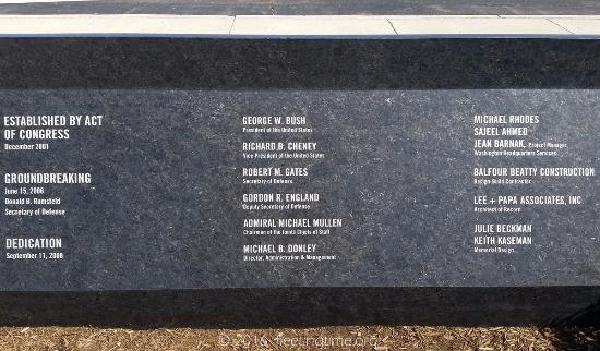 all those involved in the project アーリントン pentagon memorial