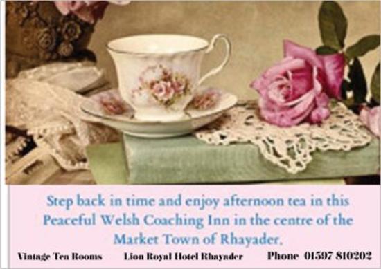 Rhayader, UK: Vintage Tea Room Open May to September