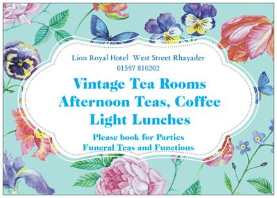 Rhayader, UK: Vintange Tea Rooms