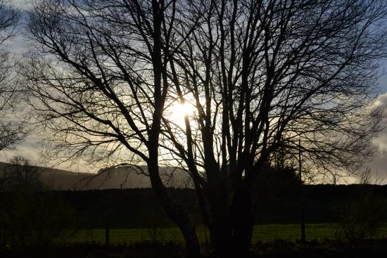 Rhydlydan, UK: The sun going down