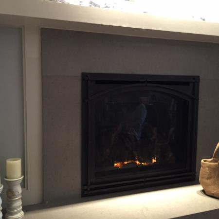 Mount Tremper, نيويورك: Fireplace in the Dining Room