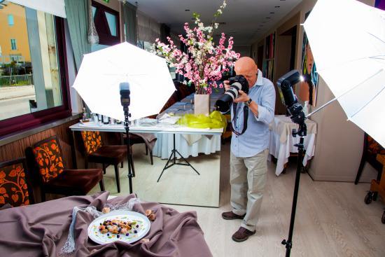 Albergo Protti: Set fotografico per la presentazione dei nuovi piatti
