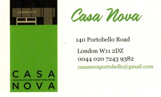 Casa Nova Carte De Visite