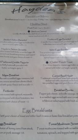 Tualatin, OR: Breakfast Menu