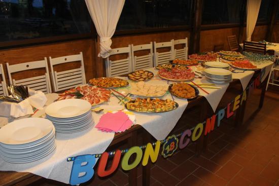 Baratti, Italia: Tavolo buffet