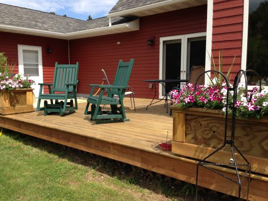 ‪‪Port Wing‬, ‪Wisconsin‬: Back Deck‬