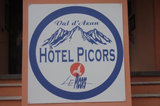 Hotel Le Picors: Het logo aan de ingang.