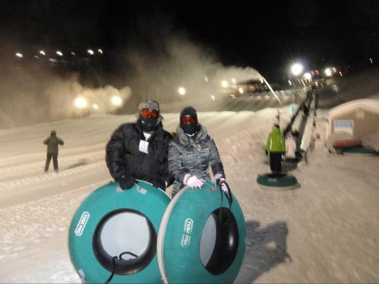 Wintergreen, VA: encarando -27 na pista de ski-bóia
